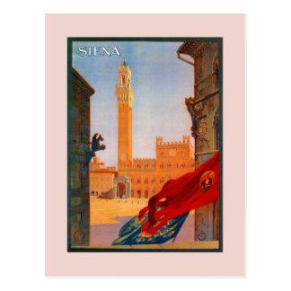 Den vintageSiena italienare reser advertizing Vykort