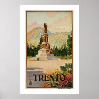 Den vintageTrento Trent italienare reser Poster