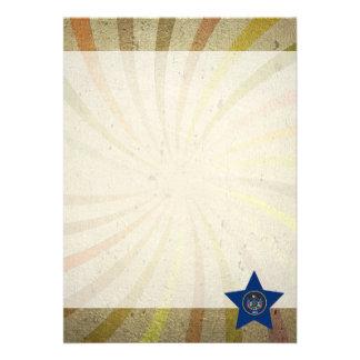 Den vintageUtahn flagga virvlar runt 12,7 X 17,8 Cm Inbjudningskort