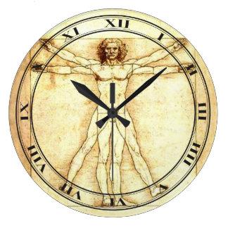 Den Vitruvian manen tar tid på Stor Rund Klocka