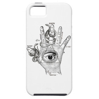 Den Wellcoda Illuminati kompassormen räcker iPhone 5 Case-Mate Cases