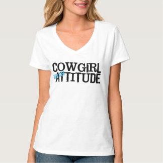 Den westerna stilcowgirlen är en t-shirt