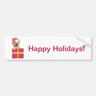 Den Westie Santa hattgåvan boxas Bildekal