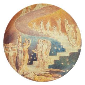 Den William Blake Jacob stegen pläterar Tallrikar