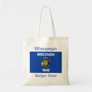 Den Wisconsin flagga hänger lös Budget Tygkasse