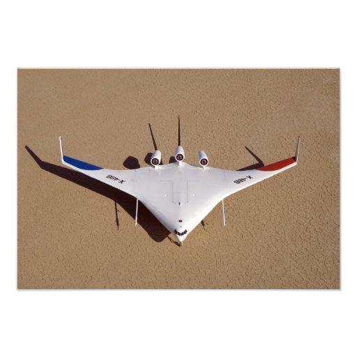 Den X-48B blandade vingen förkroppsligar obemannat Konstfoto