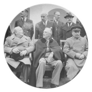 Den Yalta konferensen Tallrik