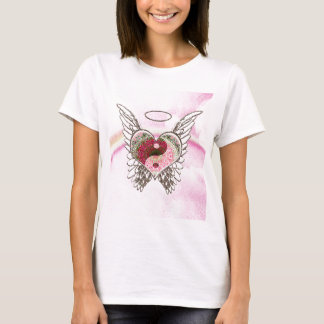 Den Yin Yang hjärtaängeln påskyndar vattenfärg T Shirts