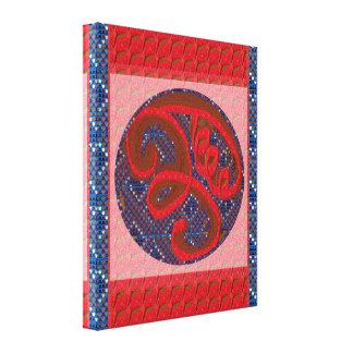 Den Zazzle Salekonsten Reiki styr Karuna symboler Canvastryck