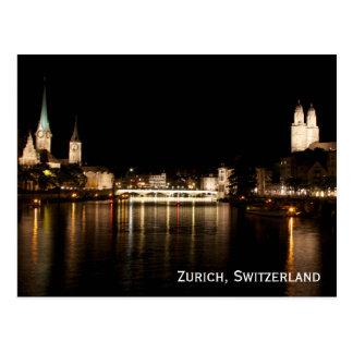 Den Zurich Schweitz natten tänder vykortet Vykort