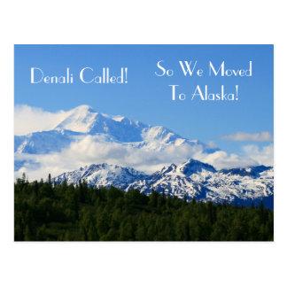 Denali kallade! Så flyttat vi till Alaska! Adress Vykort