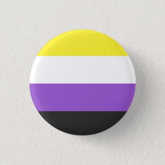 denbinära flagga knäppas mini knapp rund 3.2 cm
