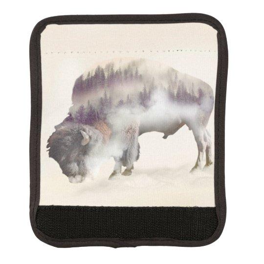 dendubbla exponering-amerikanen buffel-landskap bagagehandtag