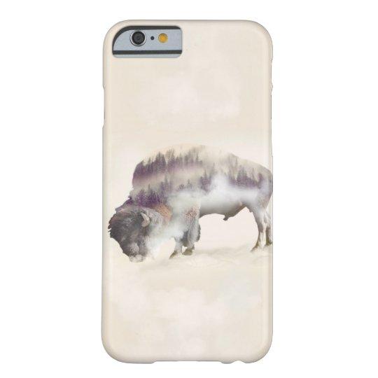 dendubbla exponering-amerikanen buffel-landskap barely there iPhone 6 skal