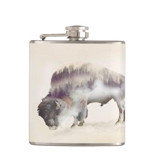 dendubbla exponering-amerikanen buffel-landskap fickplunta