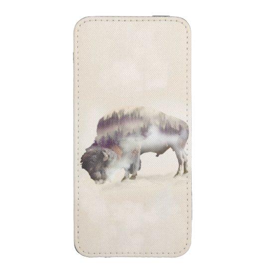 dendubbla exponering-amerikanen buffel-landskap fodral ficka