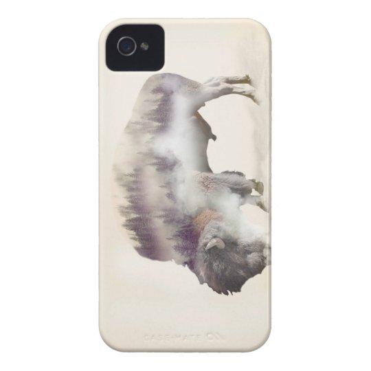 dendubbla exponering-amerikanen buffel-landskap iPhone 4 Case-Mate skydd