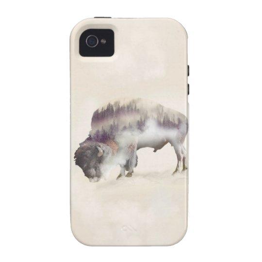 dendubbla exponering-amerikanen buffel-landskap iPhone 4 fodral