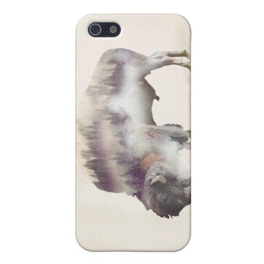 dendubbla exponering-amerikanen buffel-landskap iPhone 5 cover