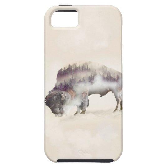 dendubbla exponering-amerikanen buffel-landskap iPhone 5 fodraler