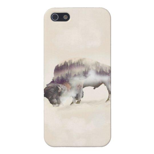 dendubbla exponering-amerikanen buffel-landskap iPhone 5 skal