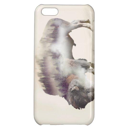 dendubbla exponering-amerikanen buffel-landskap iPhone 5C mobil fodral