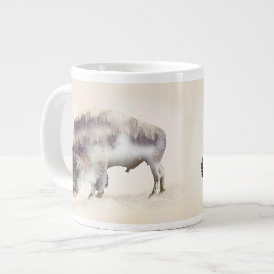 dendubbla exponering-amerikanen buffel-landskap jumbo mugg