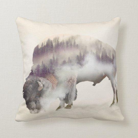 dendubbla exponering-amerikanen buffel-landskap kudde
