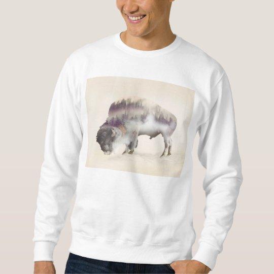 dendubbla exponering-amerikanen buffel-landskap långärmad tröja