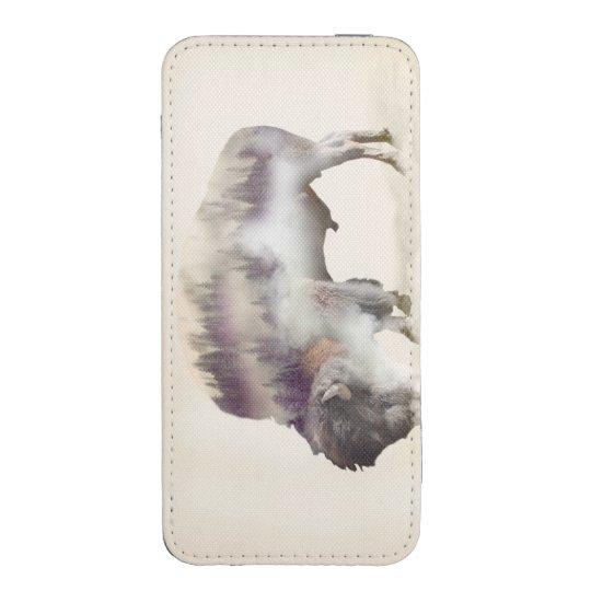 dendubbla exponering-amerikanen buffel-landskap mobil fodral ficka