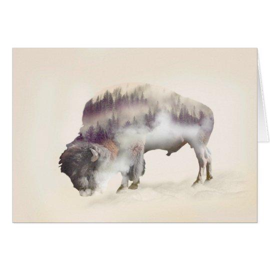 dendubbla exponering-amerikanen buffel-landskap OBS kort