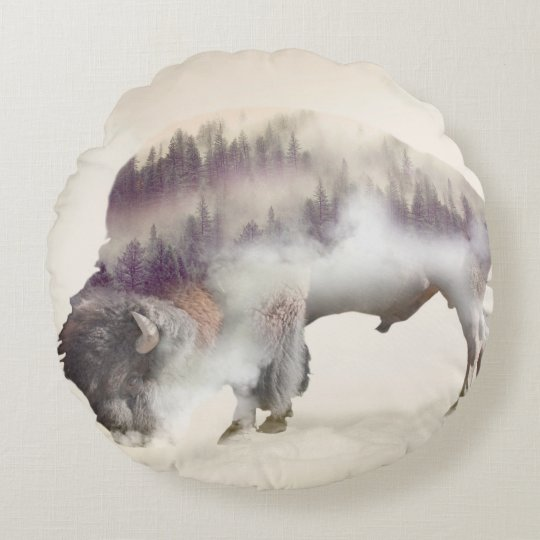 dendubbla exponering-amerikanen buffel-landskap rund kudde