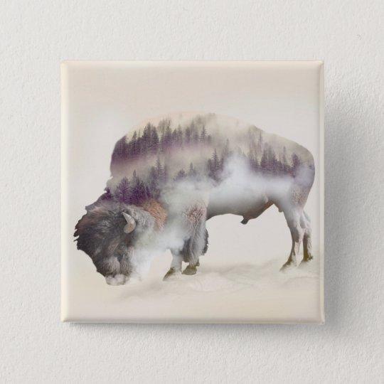 dendubbla exponering-amerikanen buffel-landskap standard kanpp fyrkantig 5.1 cm