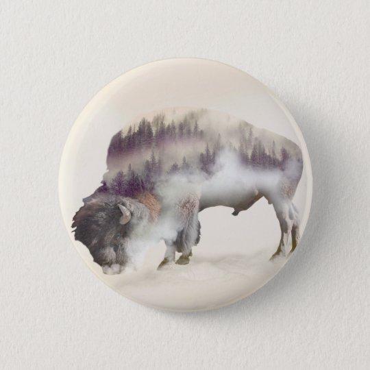 dendubbla exponering-amerikanen buffel-landskap standard knapp rund 5.7 cm