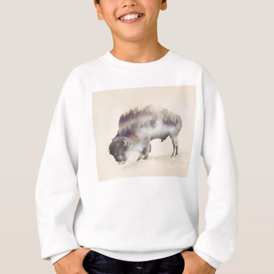 dendubbla exponering-amerikanen buffel-landskap tee shirt