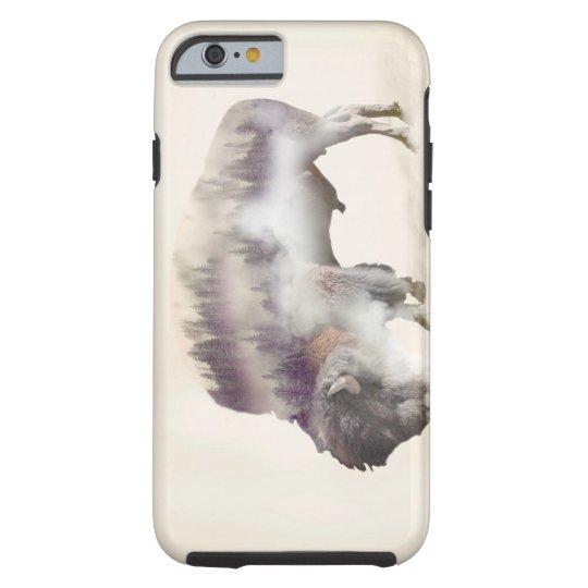 dendubbla exponering-amerikanen buffel-landskap tough iPhone 6 skal