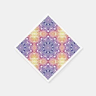 DenFärg kaleidoscopen belägger med tegel Pappersservetter