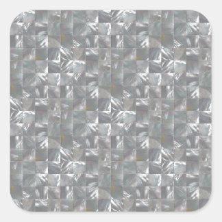DenGrå färg modern av pärlan belägger med tegel Fyrkantigt Klistermärke