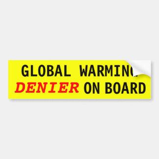 DENIER för global värme ombord Bildekal