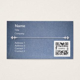 Denim för blått för visitkortmall generisk visitkort