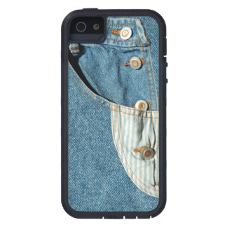 Denimblått fick- Jean iPhone 5 Fodraler