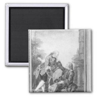 Denis Diderot och Melchior, baron de Grimm Magnet