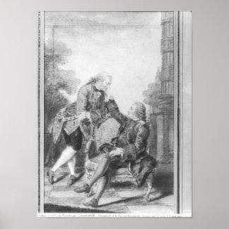 Denis Diderot och Melchior, baron de Grimm Poster