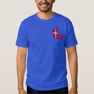 denmark flaggakarta t-shirt