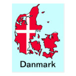denmark flaggakarta vykort