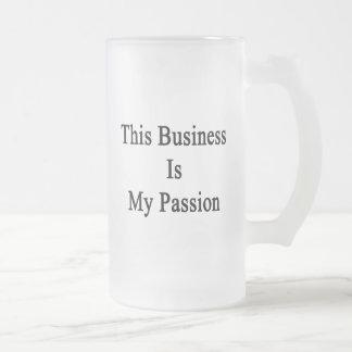 Denna affär är min passion frostat ölglas