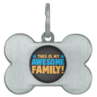 Denna är min ENORMA FAMILJ! ID-bricka Husdjur