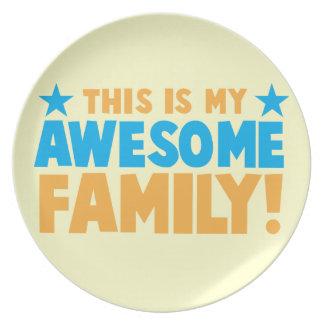 Denna är min ENORMA FAMILJ! Tallrik