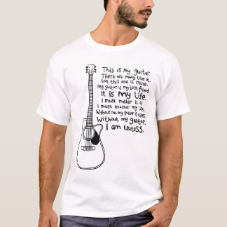 Denna är min gitarr (för ljusa utslagsplatser) tee