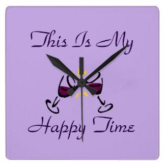 Denna är min lyckliga ställestämpelurlila fyrkantig klocka